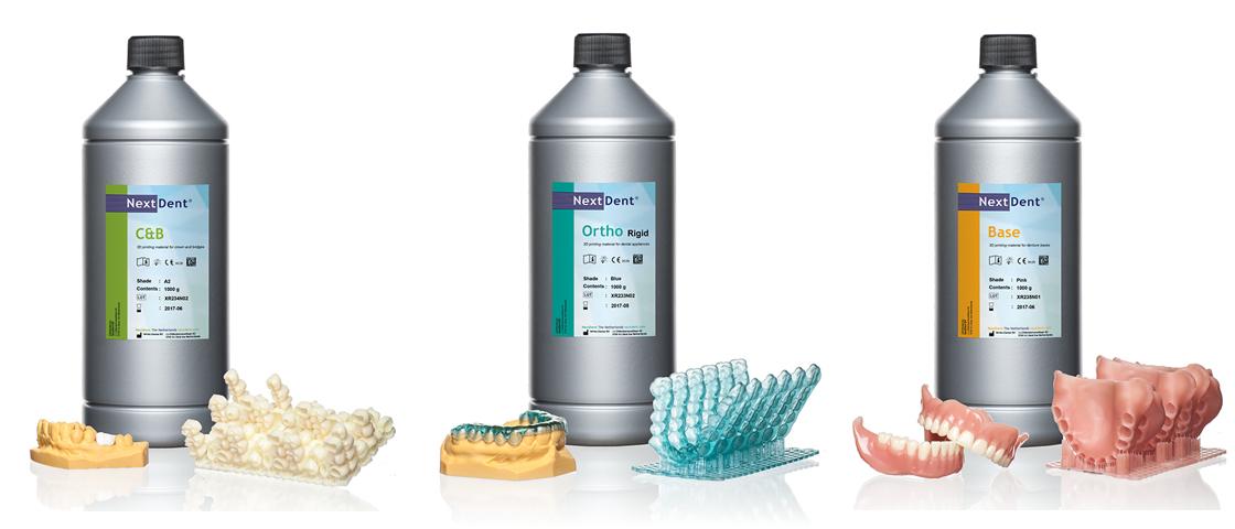 Vertex-Dental presents Class IIa NextDent dental 3D printing materials