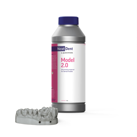 NextDent 3DSystems Model 2.0 | NextDent and 3D Systems - Leading Dental Materials for 3D Printing