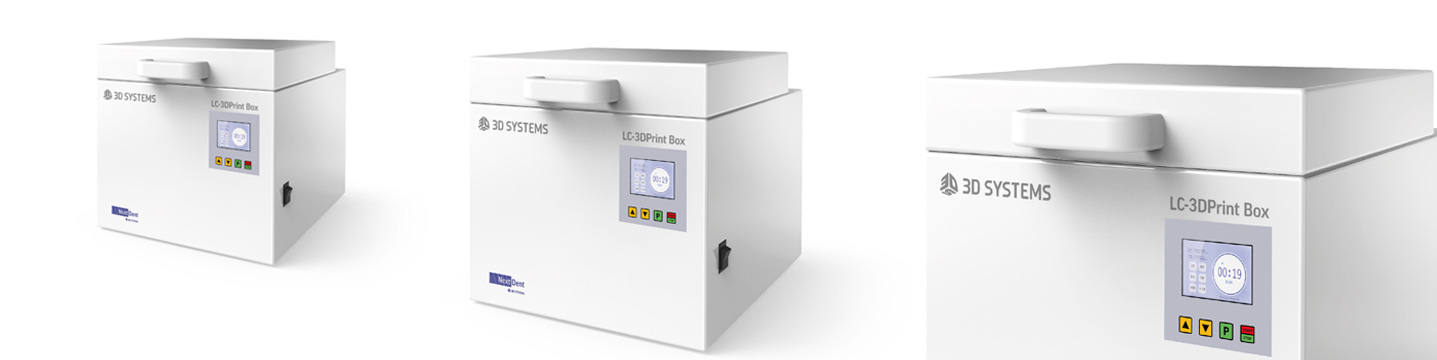 LC-3DPrint Box UV Post Curing | NextDent and 3D Systems - Leading Dental Materials for 3D Printing