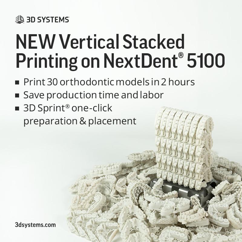 Precision Vertical Stacking NextDent 3100 3D Printer