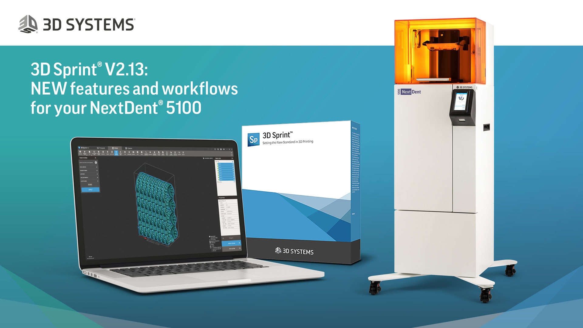 NextDent Webinar 11th May 2020 - 3D Sprint V2.13 New features and workflows for your NextDent 5100