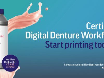 NextDent Denture 3D+ Certified Digital Denture Workflow