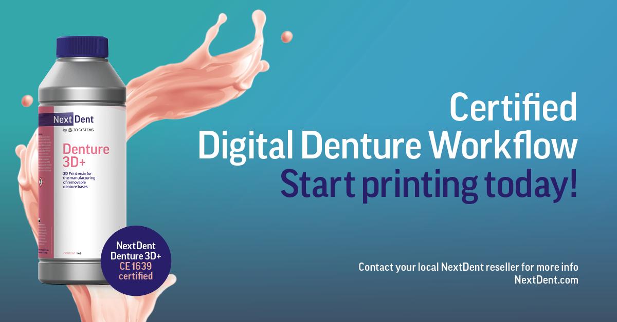 NextDent Denture 3D+ Certified Digital Denture Workflow