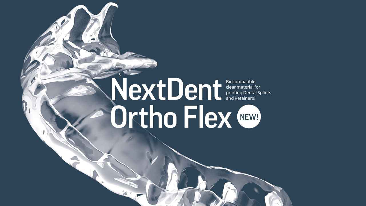 NextDent Ortho Flex Biocompatible Clear Material for Dental 3D Printing